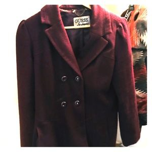 Purple Guess Pea Coat